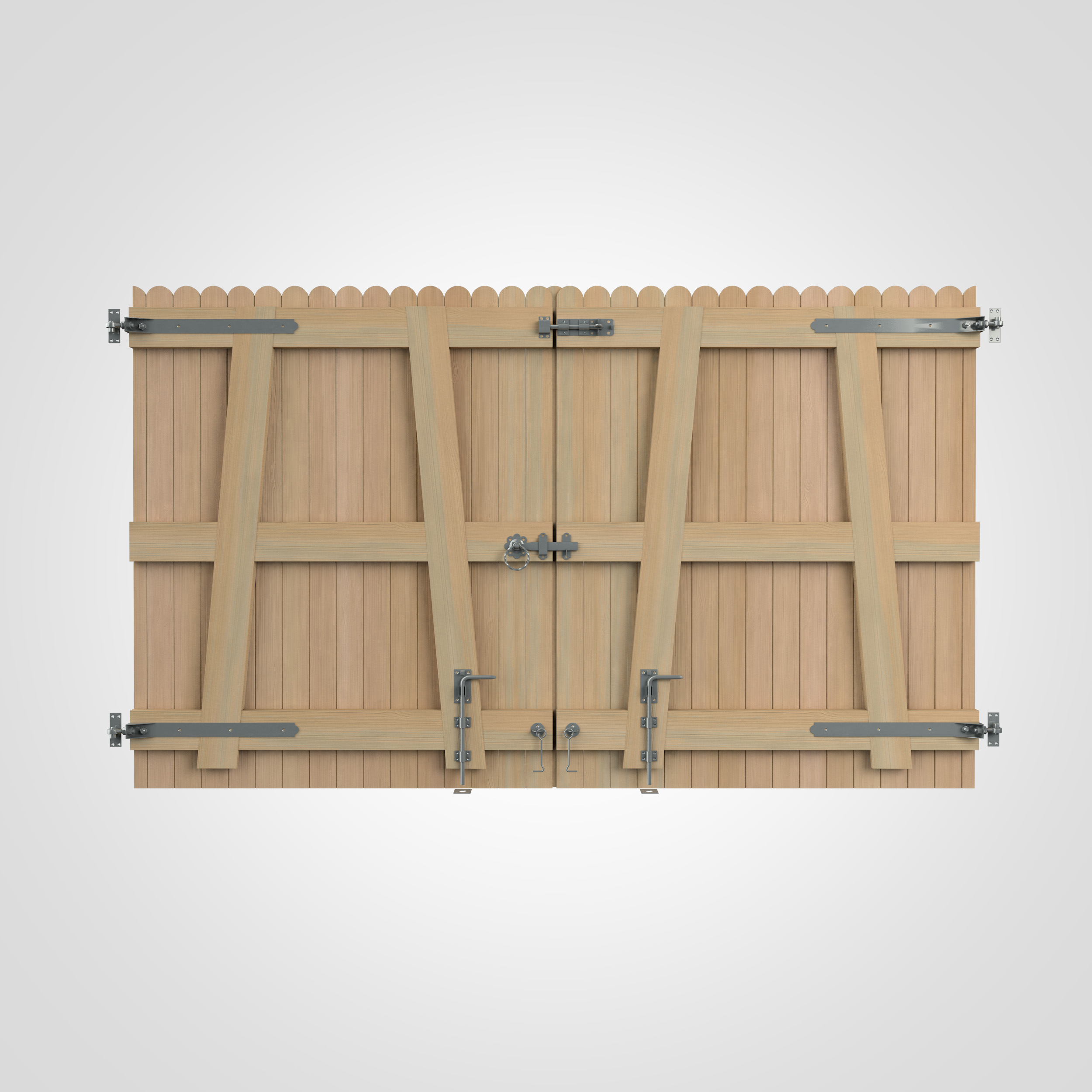 A gate wooden kit create