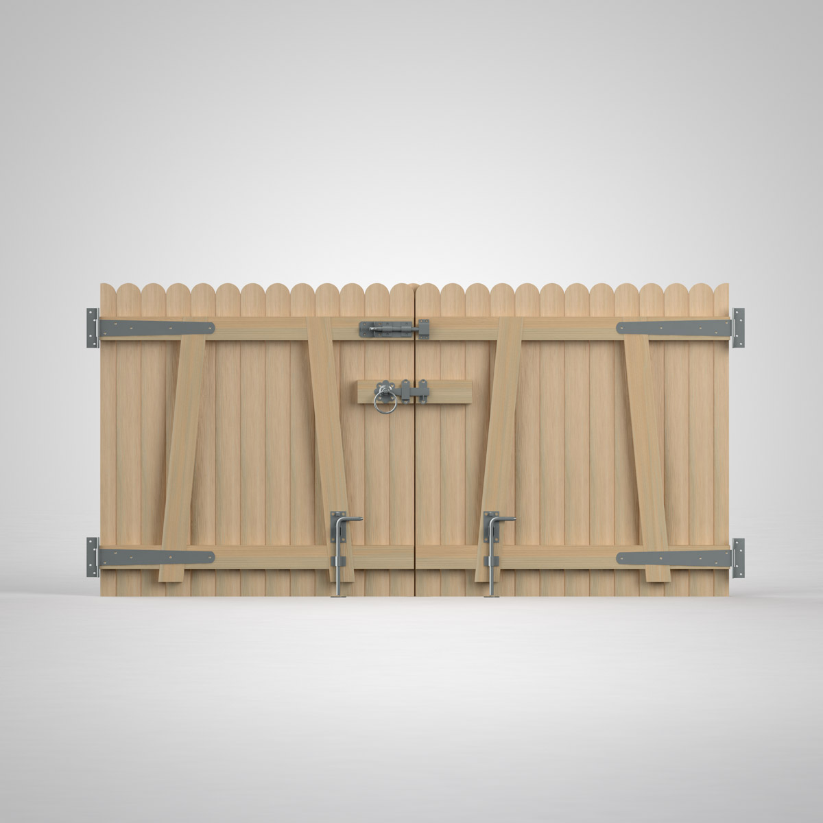 Wooden gate kit create a